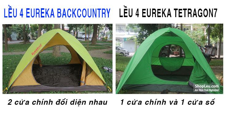 so sánh lều cắm trại