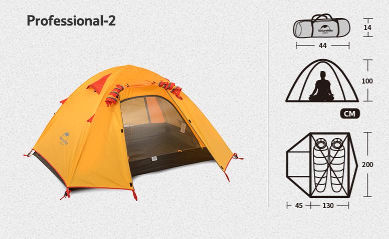 lều naturehike 2 người p-series