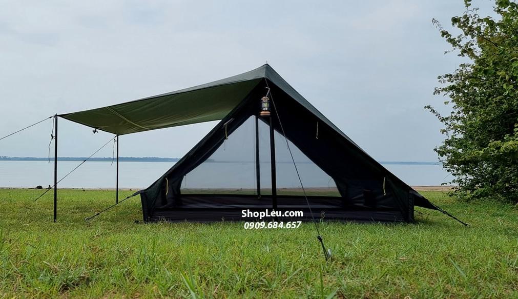 Lều Vintage Home 4 - 5P Xanh Lá