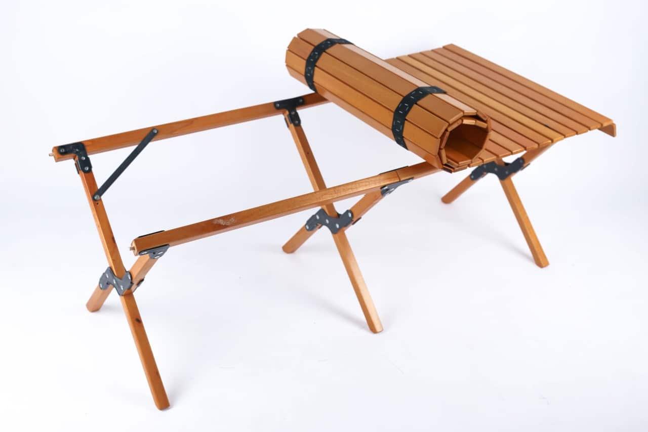 Bàn gỗ dã ngoại cuộn gọn