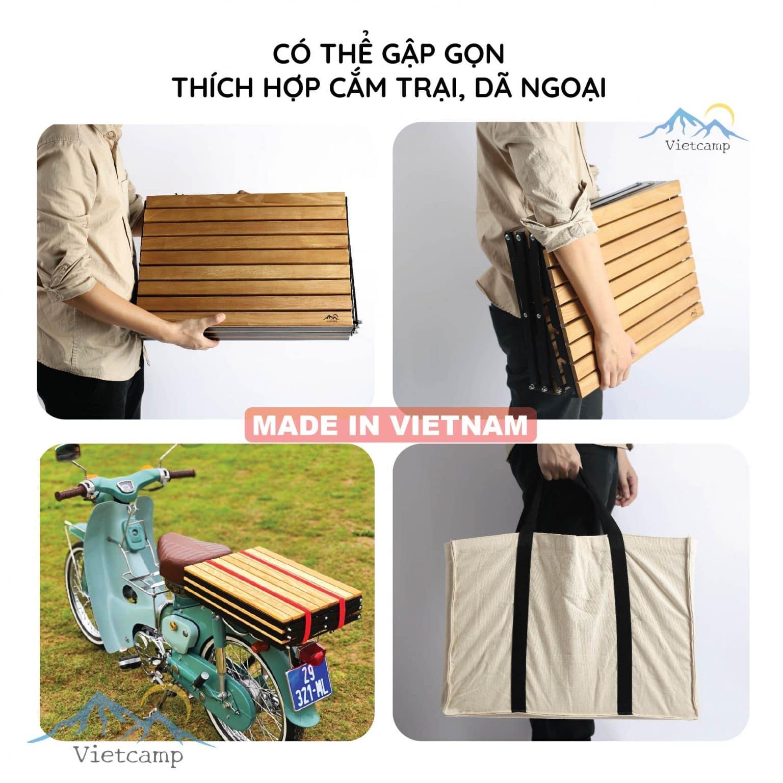 Kệ gỗ khung sắt 3 tầng để đồ