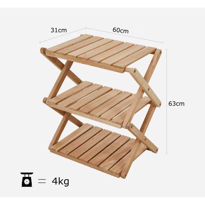 Kệ gỗ 3 tầng xếp gọn